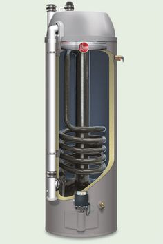 Prestige Condensing power direct vent water heater, by Rheem This is the most efficient tank-type gas water heater you can buy. Period. The reason: Its long, spiraling flue routes combustion gases around the inside of the tank, allowing the water to capture heat that would otherwise escape. Starting at about $1,400; rheem.com