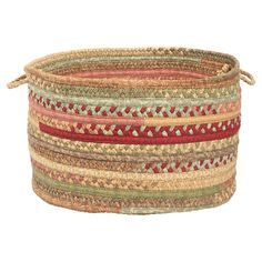 This hand-braided utility basket is perfect for stowing bath linens or snorkels.