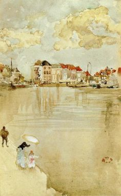Note in Gold and Silver - Dordrecht, 1884  James McNeill Whistler