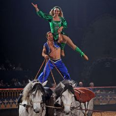 pictures of stunt horse riders | Arabian Nights Dual Horses Stunt Rider