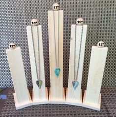Tall Slim Line Wood Necklace Jewelry Display by DebeVanderHeide on Etsy https://www.etsy.com/listing/398241643/tall-slim-line-wood-necklace-jewelry