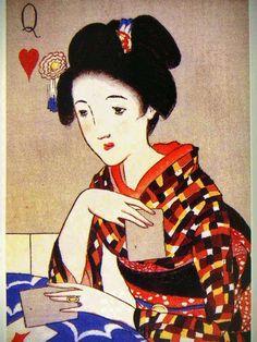 美人画 日本画 - Google 検索 Yumeji Takehisa's work.