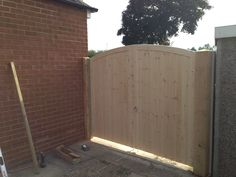Bespoke gates by Atkinsons fencing Garden Fence Panels, Garden Fencing, Drive Gates, Garden Buildings, Bespoke, Garage Doors, Shed, Deck, Outdoor Structures
