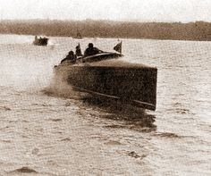 SPEED BOATS: Through the water at fifty-seven miles an hour (1913) In 1919 a record was set at 70.86 mph. Alexander Graham Bell was very much involved with speedboat development. - A trite more exciting than talking on the phone