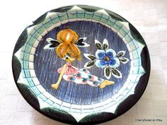 Scandinavian ceramics,Swedish Tilgman dish by Eivor Lang , 1960's