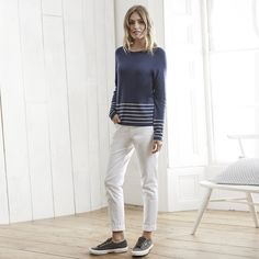 Block Stripe Jumper | The White Company