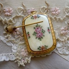 Antique guilloché esmalte frasco de perfume francês. | Esmalte & amp; Cloissonne