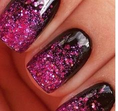 ombre sparkly nails!