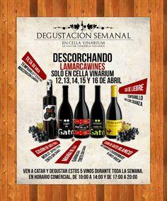 Cartel de presentación de Lamarca wines en Cella Vinarium