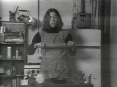 Martha Rosler (American, born 1943) Semiotics of the Kitchen  Date:1975 Medium:Video (black and white, sound) Duration:6:09 min. Credit Line:Purchase MoMA Number:718.1981 Copyright:© 2014 Martha Rosler. Courtesy Electronic Arts Intermix (EAI), New York.