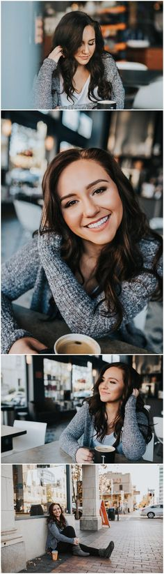 Makayla Madden Photography Boise Idaho Senior Photographer Class of 2017 Downtown Boise Thomas Hammer Coffee Senior Girl Laughter Cafe Portrait Sessions Senior Posing Location ideas and inspiration