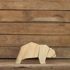 Decorative Wooden Bear made from a wood pallet