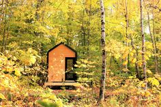 CABANE TINY CABIN 256 SQ FT There's a new tiny house company in Canada that specializes in tiny cabins! Named Cabane, the Quebec City-based builder recently . Tiny House France, Tyni House, Tiny House Company, Tiny Cabins, Tiny House Movement, Tiny Spaces, House Windows, Construction, Tiny House On Wheels