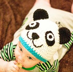 Crochet Animal Hat Pattern, Crochet Baby Hat Pattern, Crochet Hat Pattern, Beanie Crochet Pattern, Panda Hat.