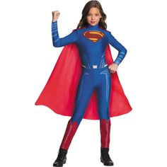 An Awesome Justice League Girls Superman Jumpsuit Costume. A Wonderful selection of Justice League Costumes for Halloween at PartyBell. Superhero Family Costumes, Superhero Suits, Superman Costumes, Halloween Costumes For Girls, Girl Costumes, Costumes For Women, Halloween Halloween, Disney Costumes, Movie Costumes