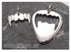 Sterling Silver Vampire Fang pendant & by BoneyardJewellery, Needle File, Vampire Fangs, Jewellery Display, Makers Mark, Thats Not My, Buy And Sell, Pendants, Jewels, Sterling Silver