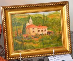 One of Concetta Scott's beautiful Italian landscapes. Oil on canvas.
