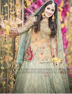 Latest Collection of Pakistani Bridal Dresses 2019 Pakistani Mehndi Dress, Bridal Mehndi Dresses, Pakistani Fashion Party Wear, Pakistani Dresses Casual, Pakistani Wedding Outfits, Bridal Dress Design, Pakistani Wedding Dresses, Pakistani Dress Design, Bridal Outfits