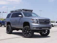 "2008 Lifted Cadillac Escalade 7""lift, 54"" Cree LED curved ..."