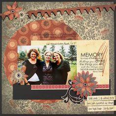 Banner Border Maker Scrapbook Layout Idea from Creative Memories
