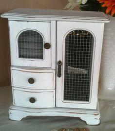 Vintage Jewlery Box Shabby Chic Organizer Eater Basket Gift