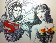 Superman / Wonder Woman by Stryker224