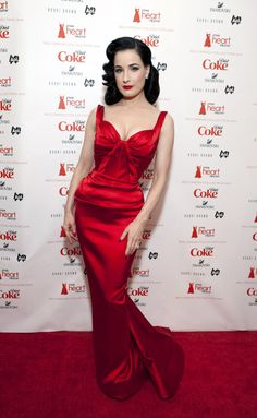 Dita Von Teese Zac Posen at The Heart Truth's 2011 Red Dress Collection show during Mecerdes-Benz Fashion Week at Lincoln Center