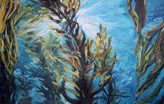 Kelp Forest, Underwater Painting, Forest Tattoos, Mermaid, Rock, Canvas, Nature, Classroom, Nursery