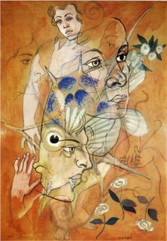 """surrealism: """" Catax by Francis Picabia. Marcel Duchamp, Man Ray, Art And Illustration, Illustrations, Salvador, Hans Richter, Francis Picabia, Max Ernst, Action Painting"""