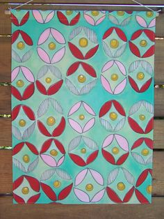 HAND PAINTED WALLHANGING  Original  Classic by jessieSCHULLER, $75.00
