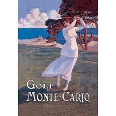 Golf Monte Carlo 1900 Canvas Art - Elio Ximines (12 x 18)