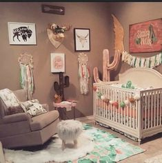 20 New Ideas baby girl nursery cactus - Baby Girl Room,