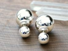 Sterling Silver Front Back Ball Stud Earrings | 2 Sisters Handcrafted www.2sistershandcrafted.com