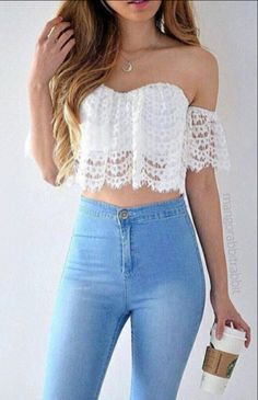 Jeans + crop + latte More
