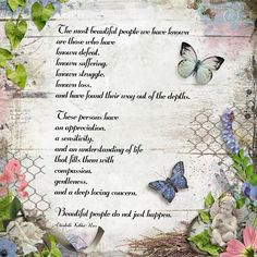 "Beautiful People. Created using ""Butterfly Dreams Kit"" and ""Butterfly Dreams Clustered Splats"" both by Studio4 Designworks #theStudio #digitalscrapbooking"