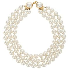 Chanel Vintage Chanel Pearl Necklace ❤ liked on Polyvore featuring jewelry, necklaces, accessories, pearl jewelry, white pearl necklace, chanel, chanel jewelry and chanel jewellery