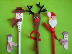 wooden spoon Christmas characters