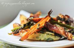 Szparagi z marchewką