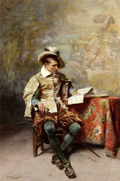 Detti, Cesare Augusto (b,1847)- Man Reading