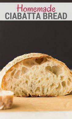 This simple Ciabatta Bread recipe will give you a rustic Italian loaf that is perfect for dipping into soups or sauces. The high hydration in this bread results in a wonderfully chewy center and tons of irregular holes. Artisan Bread Recipes, Loaf Recipes, Baking Recipes, Recipes Dinner, Italian Bread Recipes, Yeast Bread Recipes, Yeast For Bread, Bagel Pizza, Vegetarische Rezepte