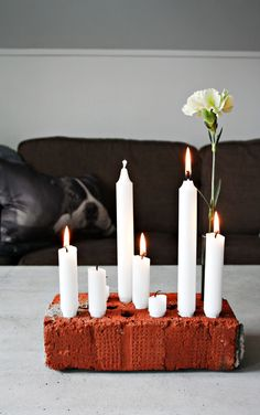 candles and flowers Diy Bedroom Decor, Diy Home Decor, Wall Decor, Diy Interior, Candle Lanterns, Xmas, Christmas, Decoration, Diy And Crafts