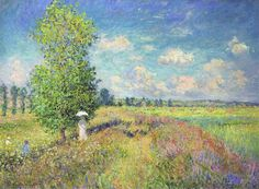 The Summer, Poppy Field by Claude Monet- Famous Art - Handmade Oil Painting on… Claude Monet, Artist Monet, Monet Paintings, Famous Landscape Paintings, Edgar Degas, Famous Art, Impressionist Paintings, Renoir, Oil Painting On Canvas