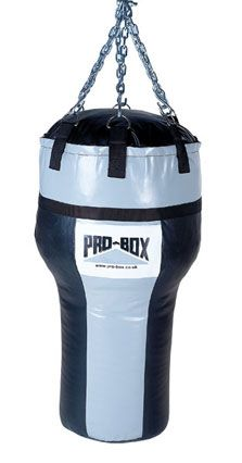 Pro-Box Black Collection Vinyl Uppercut Bag Tough vinyl uppercut bag with sloping sides to give variety to your punching combinations. http://www.MightGet.com/january-2017-11/pro-box-black-collection-vinyl-uppercut-bag.asp