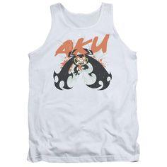 SAMURAI JACK/AKU SPLATTER-ADULT TANK-WHITE-2X   AKU SPLATTER | Cartoon T-Shirts | Mopixiestore.com