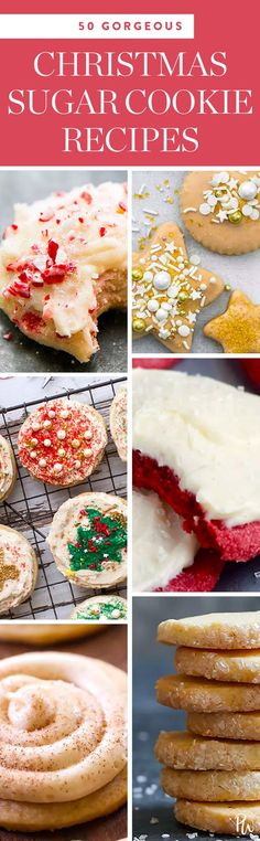 To us, the holiday season will always mean two things: watching Love Actually on repeat and baking cookies. Here are 50 of our favorite beautiful christmas sugar cookies. #christmascookies #holiday #christmas #sugarcookies #christmasdesserts