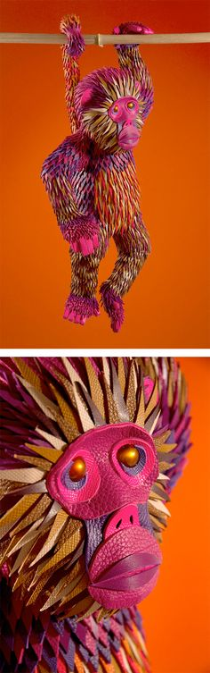 Jungle Creatures made from Hermès Leather Scraps   Inspiration Grid   Design Inspiration