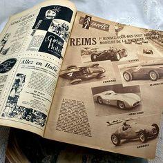 Voitures d'époque 1954 français Auto par 3rdshelffromthetop sur Etsy, $12.00