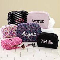 Personalized Small and Large Cosmetic Bags