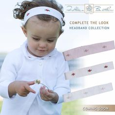 Coming Soon! Beautiful Feltman Brothers headbands to complete your little girl's outfit! They are beautifully embroidered and coordinate perfectly with our dresses and bubbles! http://feltmanbrothers.com