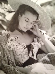 """Vivien Leigh on the set of """"Gone With the Wind"""". Leigh was in most scenes of """"GWTW"""" so the shooting schedule for the film was gruelling."""